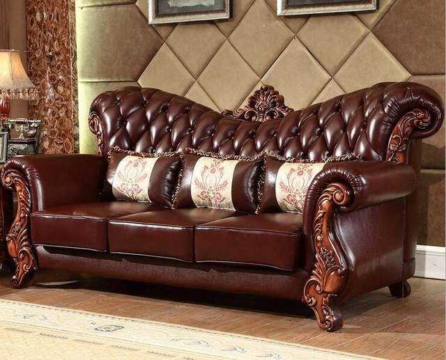 Solid Wood Sofa Set With Center Table 0409 171