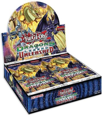 YuGiOh! Dragons Of Legend 3 Unleashed Booster Box : 24 Packs X 5 Holo Cards!