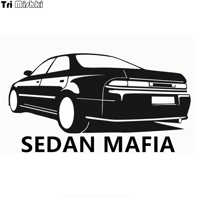 Tri Mishki HZX164# 10.9*20cm SEDAN MAFIA Car Sticker For Mark 2 Vinyl Decals Motorcycle Accessories Sticker Reflective