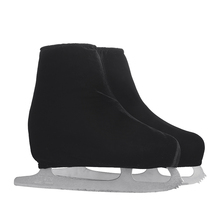 24 Colors Child Adult Velvet Ice Skating Figure Skating Shoes Cover Solid Color Rollar Skate Shoes Accessories Athletic Black