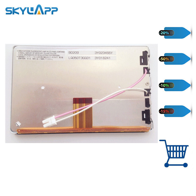 Skylarpu 5 inch LCD screen for LQ050T3GG01 CAR LCD screen display panel (without touch) Free shipping original 6 5 inch lq065t9br51u lq065t9br53u lq065t9br54u lq065t9br53t for bmw car navigation system lcd screen without touch