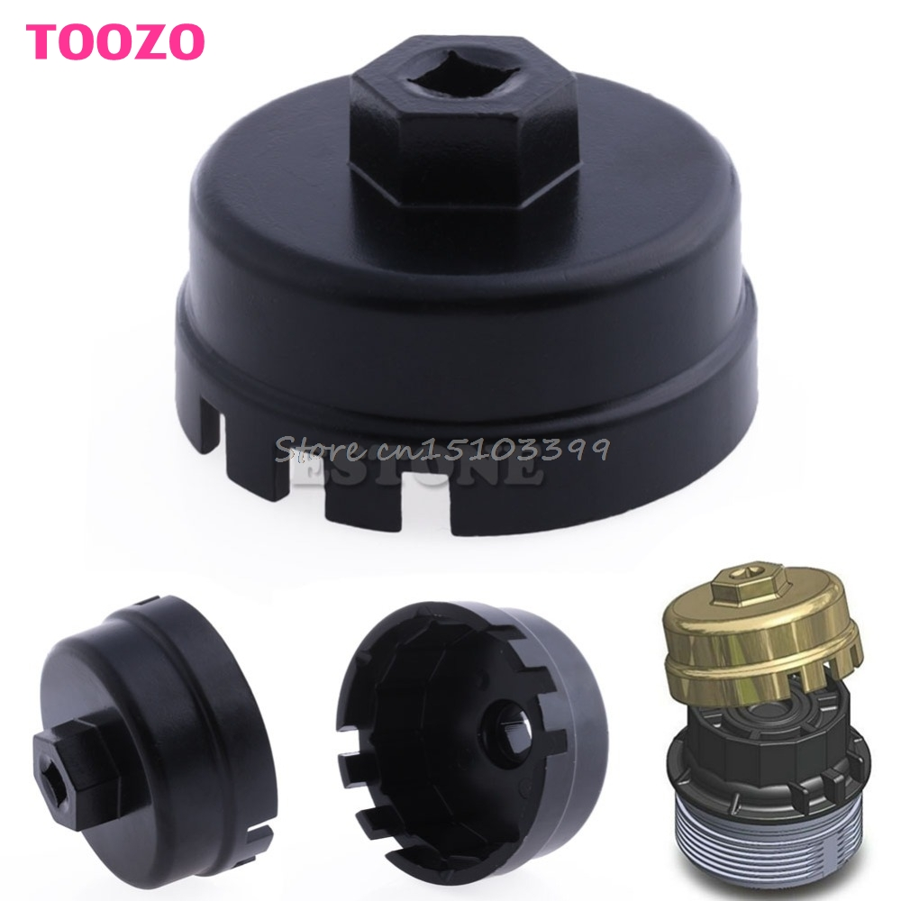 14 Flutes Universal Oil Filter Socket Housing Tool Remover Cup Wrench For Toyota