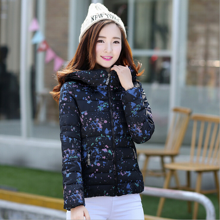 ФОТО 2016 Autumn and Winter Jacket Women New Fashion Down Cotton Padding Jacket Coat Women Clothing Parka Winter Outwear Y0721-65E