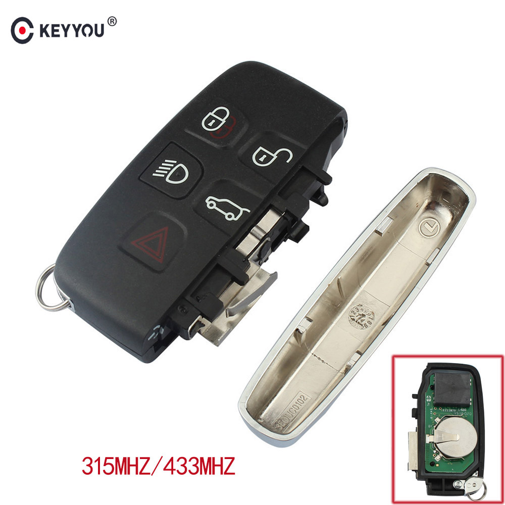 KEYYOU 5 Buttons Smart Remote Control Car Key Fob 315MHz 433Mhz For Land Rover LR42003-2005/Discover4 2012-2015/ FREELANDER 2 цена