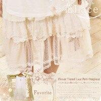 Japanese Mori Girl Sweet Dress Women's O Neck Lace Floral Embroidery Bottom Patchwork Sleeveless Vestido Kawaii Tank Dress A134