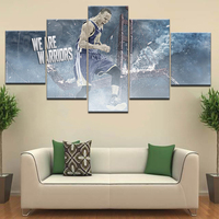 Stephen Curry HD Wallpapers modern Wall posters Canvas Art painting 5 Panel HD Print For home living room decoration