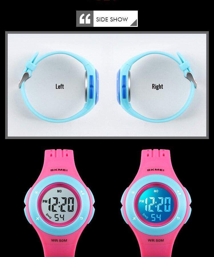 SKMEI Fashion Men Quartz Watch Children Digital Watch Big Dial Waterproof Parent-child Watches relogio masculino 9185 1455 Set 21