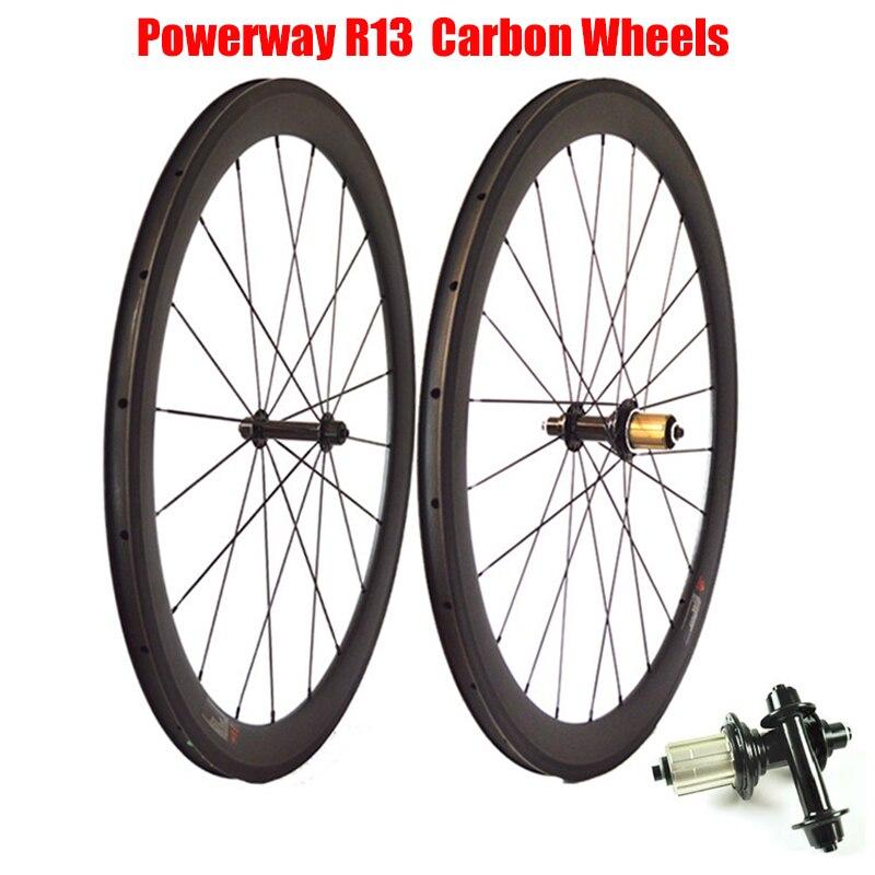 Catazer 700C 23/25mm Wide 38mm 50mm 60mm 88mm Depth Tubular or Clincher Powerway R13 Hub Carbon Road Bike Basalt Brake Wheelset