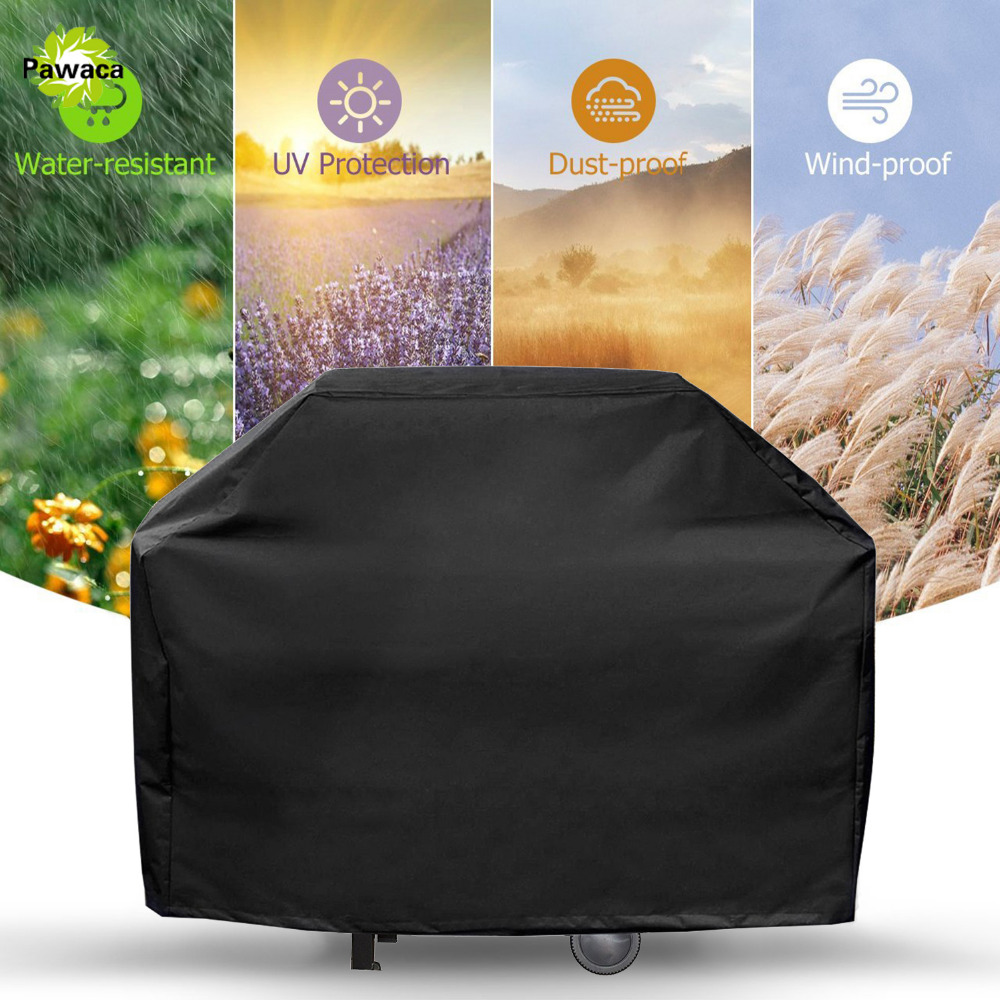 Waterproof BBQ Grill Cover Outdoor Gas Grill Garden BBQ Protection Shield Anti Dust Rain Protector BBQ Tools for Camping Picnic