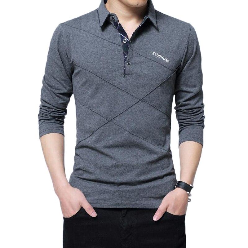 Polo Shirt Hommes Plus La Taille 4XL 5XL Marque Nouveau Printemps Automne hommes de Mode Casual Coton Polos Solide Couleur Manches Longues Polo Chemises