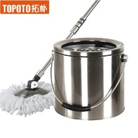 Rotating mop bucket full stainless steel double d3 mop bucket