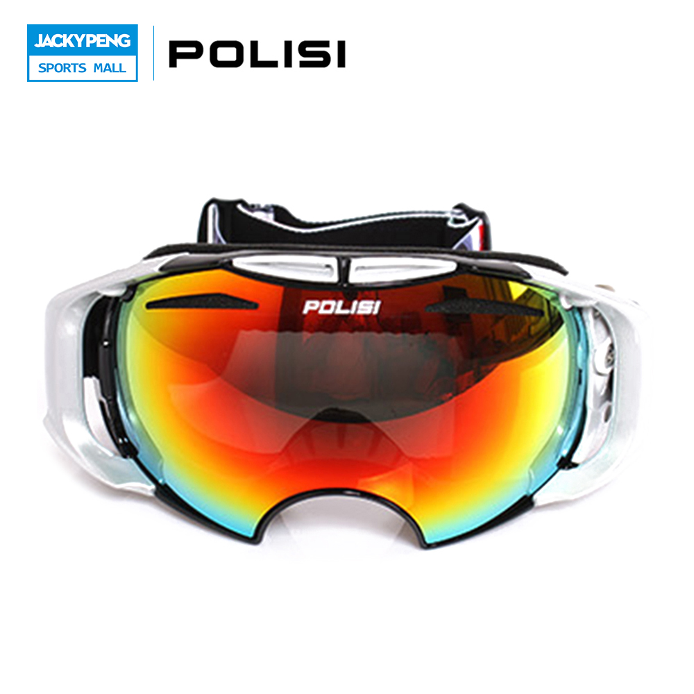 ФОТО Free Shipping! POLISI Unisex Replaceable Lenses Night n and Daytime Snowboard Snow Goggles Mountain Skiing Glasses Eyewear