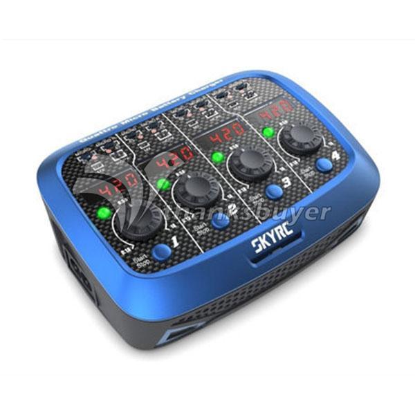 SKYRC Quattro Micro Battery Charger Li-Po Ni-Mh AC DC 100-240V 4W Output RC Car