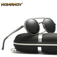 Men Al-mg Vintage Retro Round Double Bridge Sun Glasses Polarized Sunglasses Custom Made Myopia Minus Prescription Lens -1 to -6