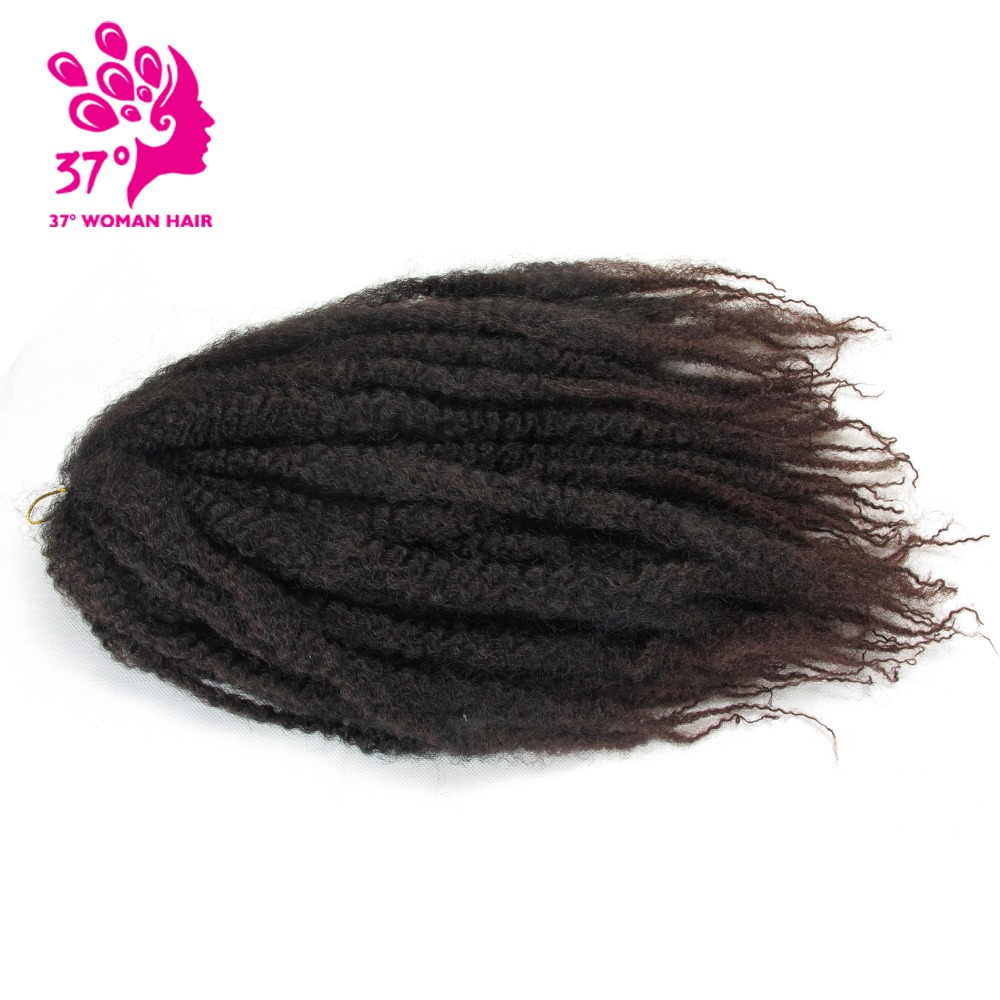 Synthetic Marley Braids Crochet Hair Afro Twist Braiding Hair 30strands 18inch DIY Ombre Brown Braiding Hairstyle For full head