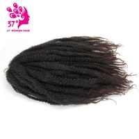 Synthetische Marley Zöpfe Häkeln Haar Afro Twist Flechten Haar 30 stränge 18 zoll DIY Ombre Braun Flechten Frisur Für volle kopf