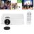 Mini LED LCD Proyector Portátil Wifi GP-9 Proyectores de Cine En Casa Proyector de juegos Soporte HDMI USB SD AV HD Video Media jugador