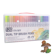 brush marker set for Art Supplies 48/60/100/120 Colors Soft Brush Marker For Drawing Painting Set  Watercolors Pen for School