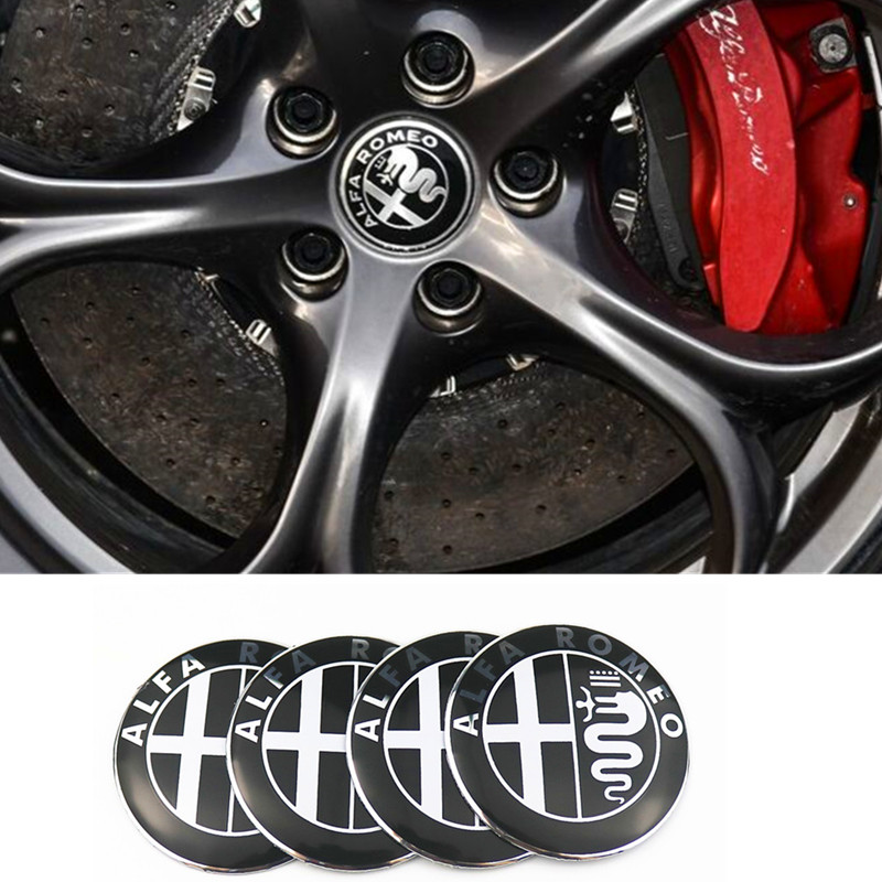 4pcs Car Wheel Center Hub Caps Cover Rim Sticker Badge Styling For Alfa Romeo Mito 147 156 159 166 Giulietta Spider Car Styling free shipping car styling sticker aluminium alloy car wheel cover wheel hub rim center cap for 2015 2016 new ford mustang