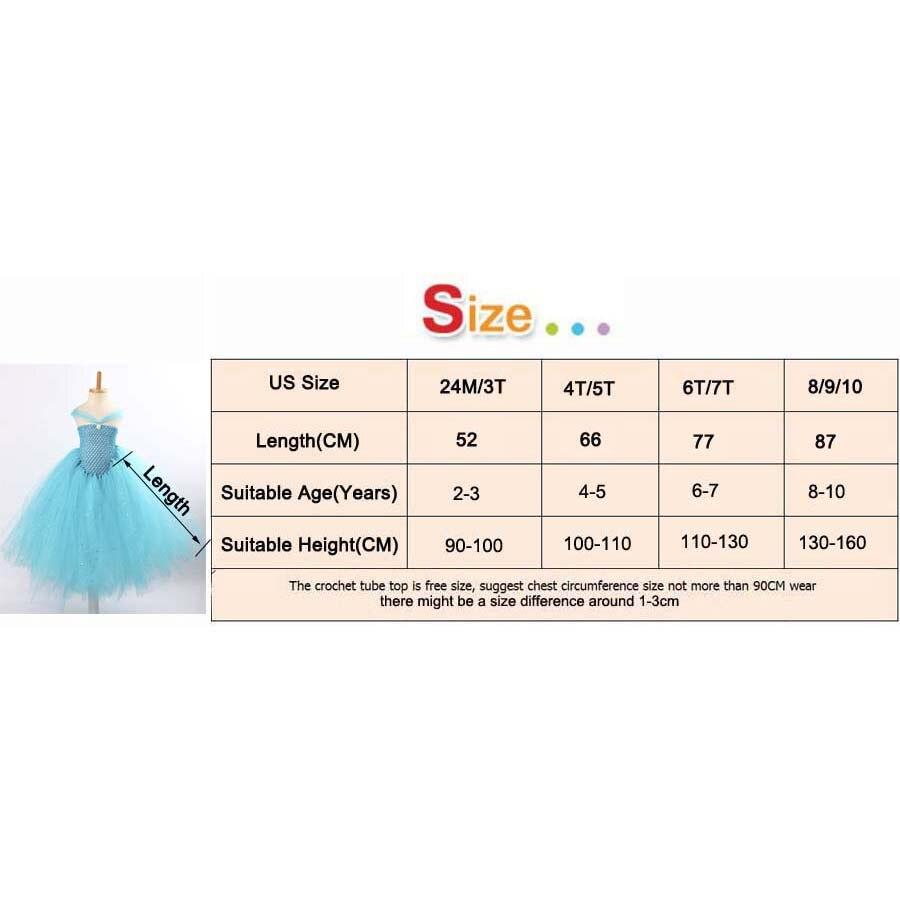 Girls Blue Glitter Princess Tutu Dress Elsa Inspired Kids Rhinestone Wedding TUTU Ball Gown Children Prom Birthday Party Dress 6