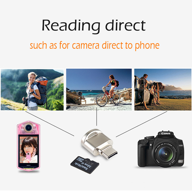 Portable USB 3.1 Type C Card Reader USB-C TF Micro SD OTG Adapter Type-C Memory Card Reader For Samsung Macbook Huawei LeTV 1