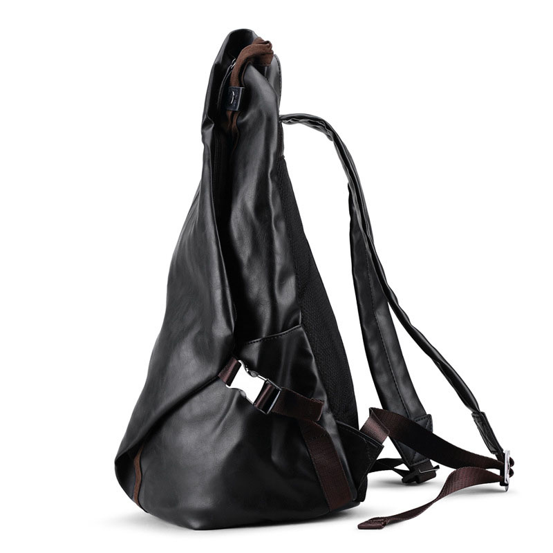 Mens Soft Pu Leather Backpack For Travel Casual Men Daypacks Leather Travle Backpack Mochila Black School Backpacks