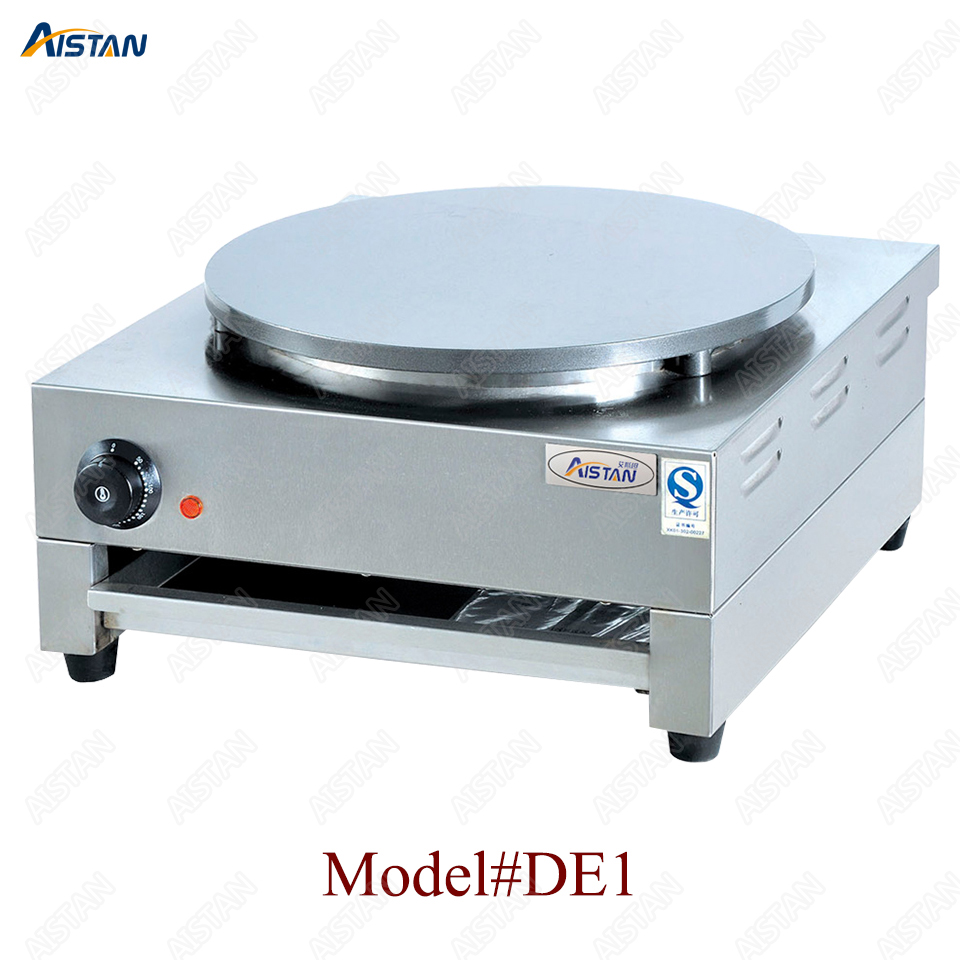 DE1/DE2 electric crepe maker cooker griddle machine for snack maker equipment 1