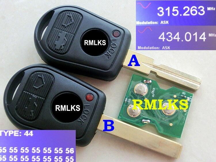 RMLKS À Distance Clé 3 Bouton 315 mhz 433 mhz ID44 PCF7935AA Puce Fit Pour BMW 3 5 7X5 z4 E38 E39 E46 Uncut Lame