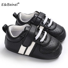 Baby First Walkers Shoes Soft Sole Infant Sneaker PU Leather