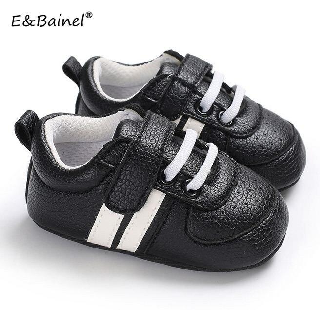 Bébé premiers marcheurs chaussures semelle souple bébé Sneaker PU cuir filles garçons marque bébé chaussures 0-18month nouveau-né Bebe enfants chaussures