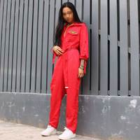 Red letter Bar ds costumes nightclub men and women singer dj loose onesies tooling hip hop stage dance wear