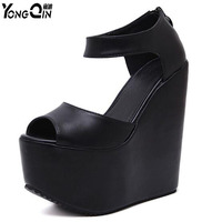 New Wedge Elegant Sandals 16CM High Heel Sandals Beautifu Women Sandals Shoes