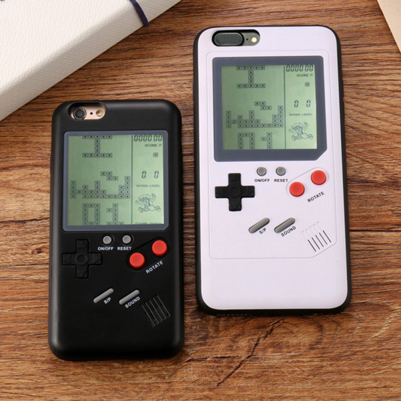 Tetris Game Console Phone Cases for iPhone X 6plus 6s 7 7plus 8 8plus Play Blokus Game Console Cover Protection Gift