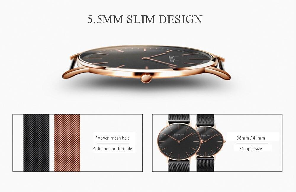 Bestdon casal relógios par masculino e feminino