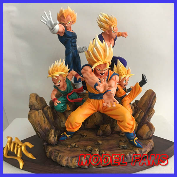 MODEL FANS IN-STOCK copy version MRC super saiyan family goku guhan goten vegeta trunks gk resin figure toy for collection free shipping super big size 12 super mario with star action figure display collection model toy