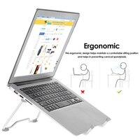 Portátil portátil suporte portátil dobrável suporte para notebook suporte de desktop ajustável suporte para tablets macbook ar pro|Suporte p/ laptop|Automóveis e motos -