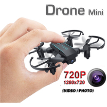 1601 Mini Folding Drone With/Without HD Camera Micro Pocket Dron Headless Mode Altitude Hold RC Helicopter Quadcopter Aircraft
