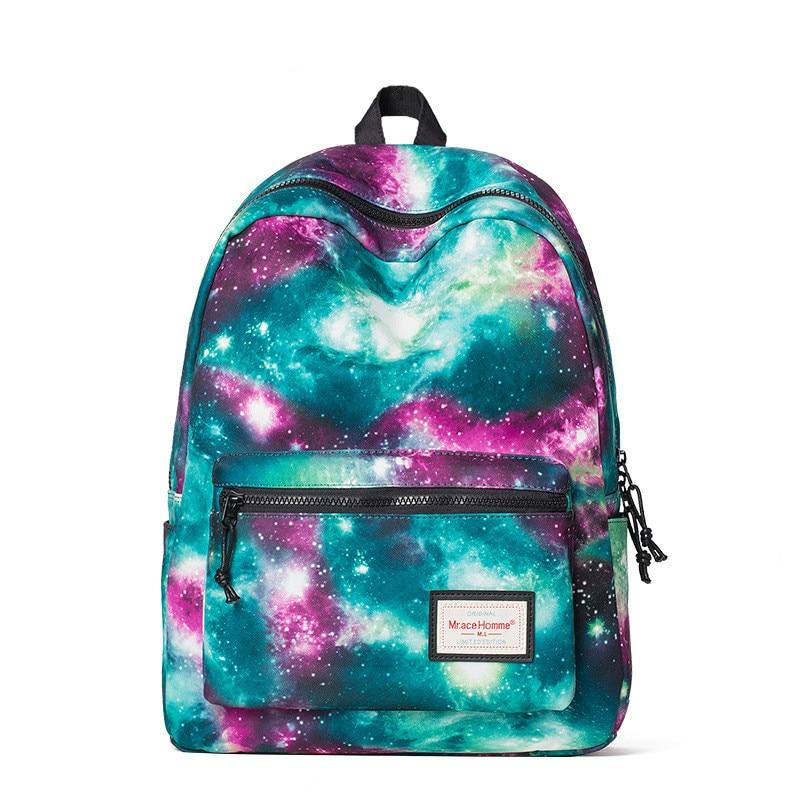 Hotsale 2017 New Canvas Star Sky Backpack Large Capacity Preppy Style School Bag Casual Satchel Bag