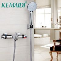 Modern New Bathroom Faucet Chrome Polished Shower Set Hot Cold Mixers Taps Wall Mounted Rainfall Shower