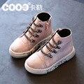 La nueva alta ayuda sandalias de los niños de piel niña edición de han boy zapatillas mocasines