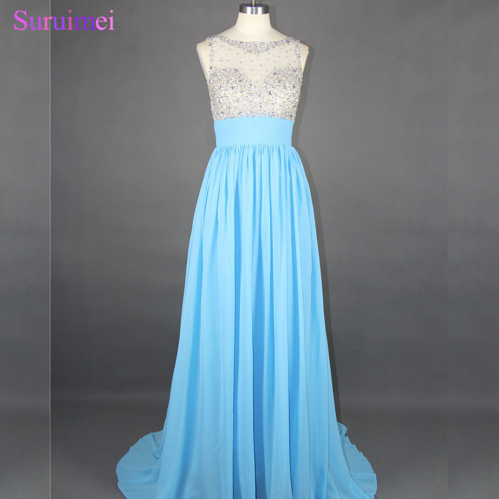 Factory Real Pictures! High Quality Long Beaded Prom Dresses ...