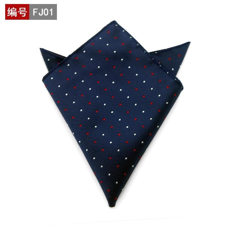 25*25cm Polyester Handkerchief Men's Business Suit Floral Pocket Square Hankies Classic Design Plaid Pocket Towel