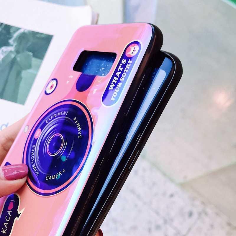Voor Samsung Galaxy S10 A10 A20 E A30 A40 A50 A60 A70 J4 J6 J7 Plus Lite Case Soft TPU blu-ray Camera Kickstand Beschermhoes