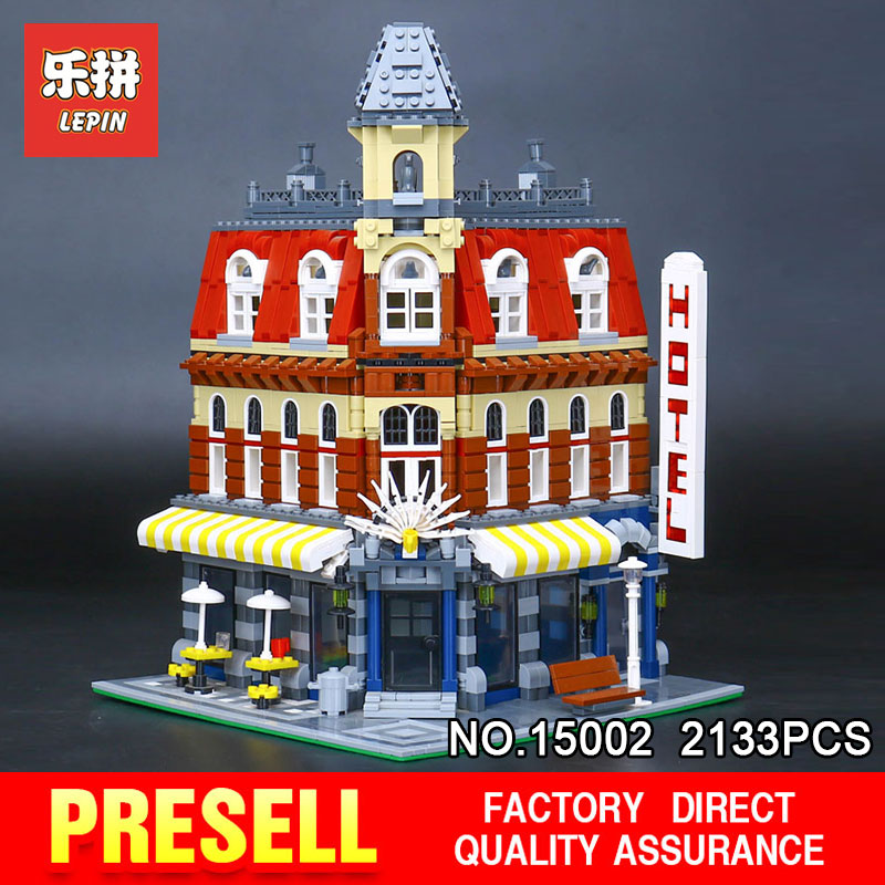 LEPIN 15002 2133Pcs Cafe Corner Model Building Blocks Bricks Educational Toy Model Gift Compatible With 10182 for Children 2pcs amber yellow bau15s 7507 py21w 1156py led bulbs 15 smd 2835 led for front rear turn signal lights for most janpanese cars