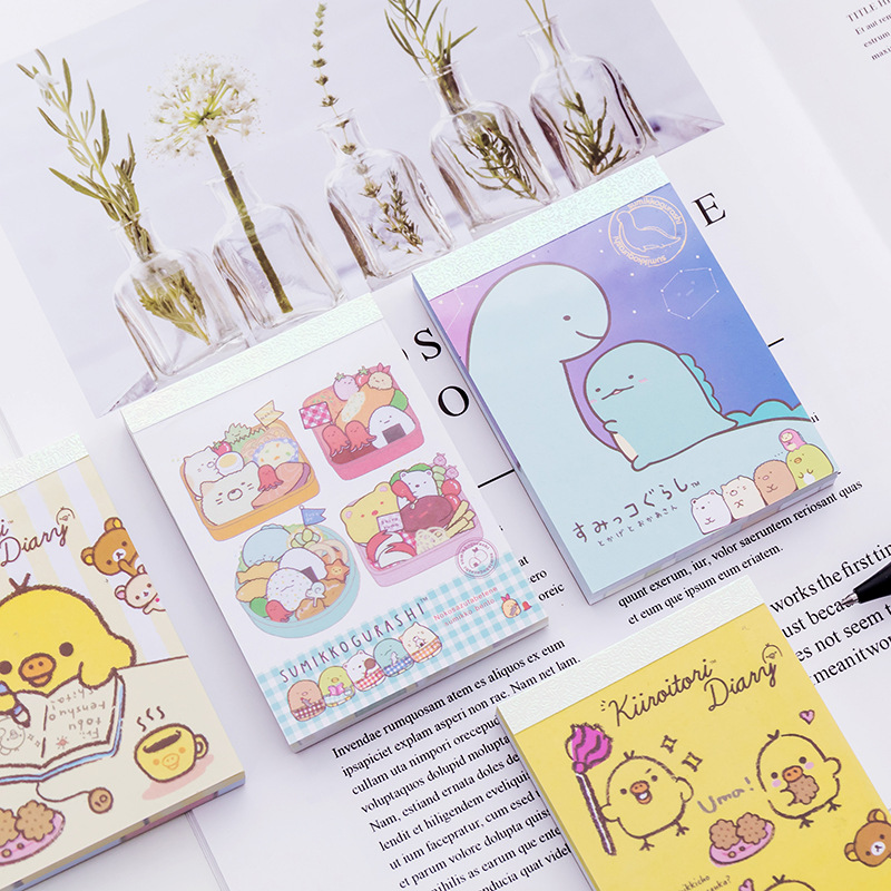 1 Pack Kawaii Memo Pads Sticky Notes Notepad Stationery School Office Supply Notepad