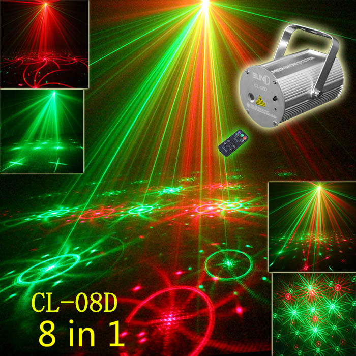 High quality 8 pattern laser light lamp Astigmatism  Voice Ceiling lamp Suspended ceiling Stage lights Bar KTV Laser light lamp high quality southern laser cast line instrument marking device 4lines ml313 the laser level