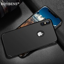 Ultra thin 0.5mm Slim Matte Soft TPU Case For iPhone X iPhone 6 6S 7 8 Plus Transparent Phone Case For iPhone 5 5S SE Cover(China)