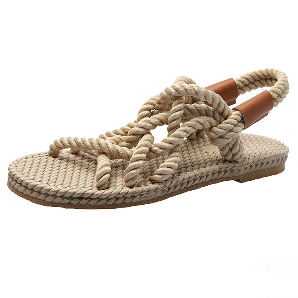 HTB1rLU7dLWG3KVjSZFPq6xaiXXao - SAGACE Sandals Woman Shoes Braided Rope With Traditional Casual Style And Simple Creativity Fashion Sandals Women Summer Shoes