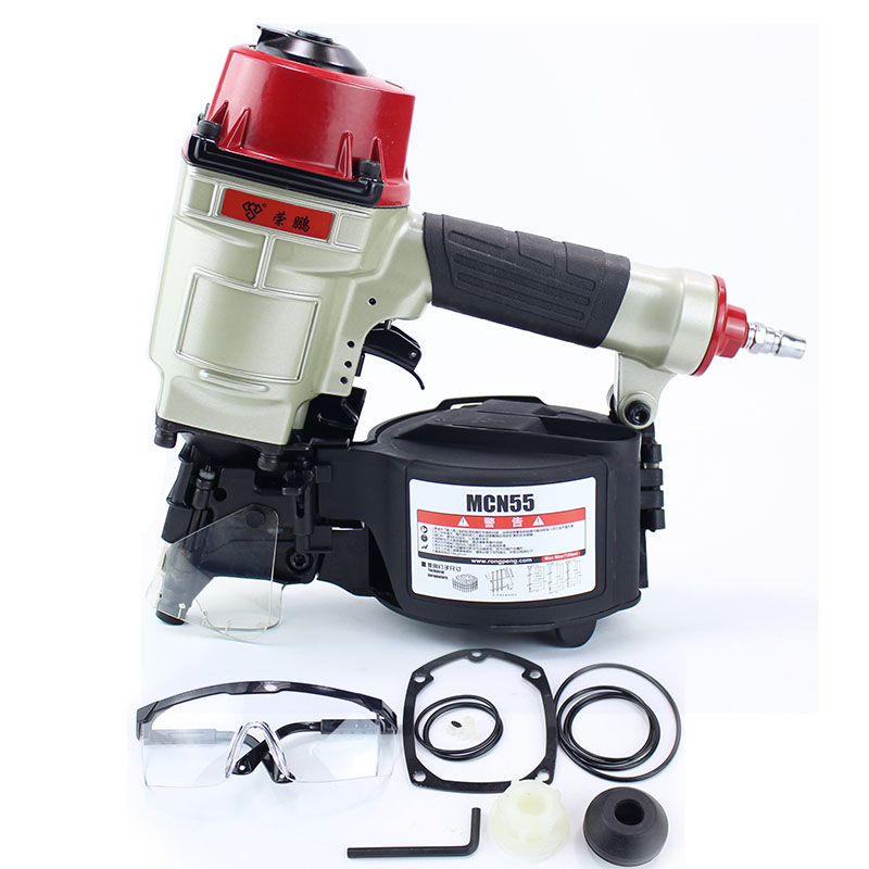 Quality CN55  Industrial Pneumatic Coil Nailer Tool Air Nailing Gun For Pallet Making Air Gun Pallet Nailer Coil Gun