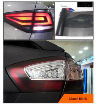 30*180cm matowy dym folia na światła samochodu matowy czarny odcień reflektor Taillight światła przeciwmgielne Vinyl Film tylna lampa folia barwiąca tanie i dobre opinie CARSUN Folia do lamp samochodowych CN (pochodzenie) 30cm